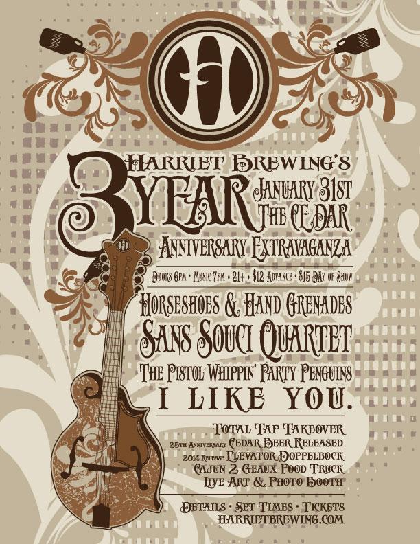 Harriet Brewing 3 yr Anniversary Party